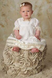 04c9eca9b Image is loading Boho-Flower-Girl-Dress-Heirloom-Clothing-Baptism-Dresses-