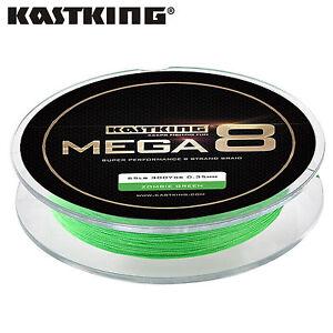 Black KastKing Mega 8 Strands Super Braided Fishing Line 300yds 10LB
