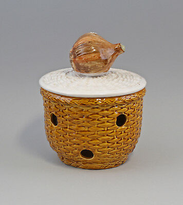 Antiques Ceramics & Porcelain 9918641 Onion Pot Ceramic Majolika Portugal To Make One Feel At Ease And Energetic