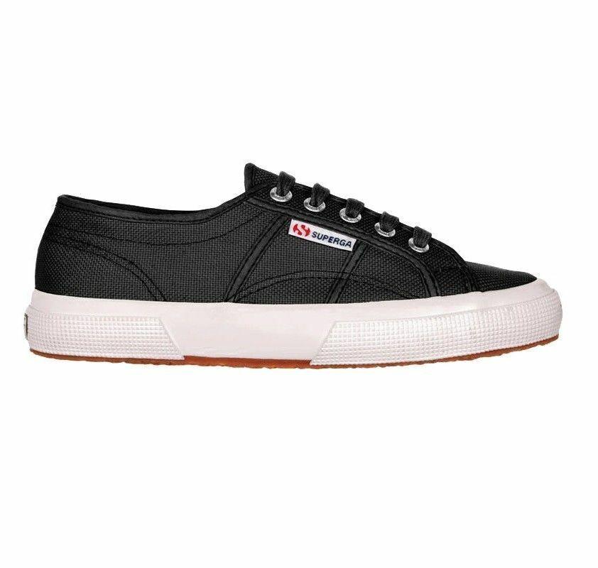 SUPERGA 2750 COTU CLASSIC S000010 F83 negro negro BIANCO zapatos TELA hombres mujer
