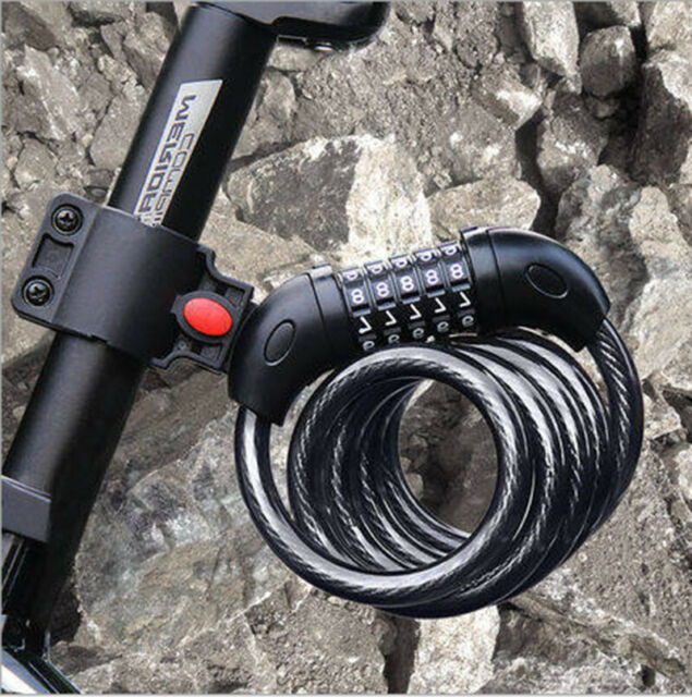 4-Feet Heavy Duty Bike Bicycle Security Lock Cable 4 Digit Combination Password