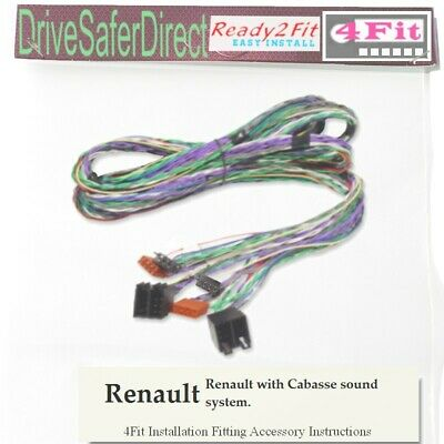 4Fit-9979-02 2.5 M Extensión Doble ISO para manos libres Kit//Renault con Cabasse
