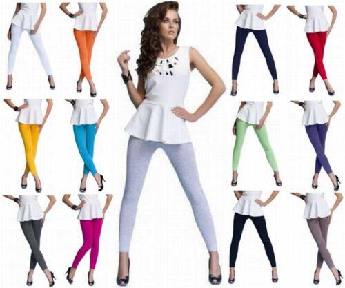 XXXL 2-er Sparset Damen Fitness Leggings lang aus Baumwolle S viele Farben