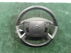 CITROEN-C5-MK3-LEATHER-STEERING-WHEEL-WITH-CONTROLS-AND-AIRBAG-08-on
