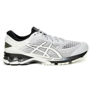 ASICS Men's Gel-Kayano 26 White/Black Running Shoes 1011A541.101 NEW