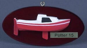"West Wight Potter Ornament 1'8""=1' Scale Half Hull Display Model"