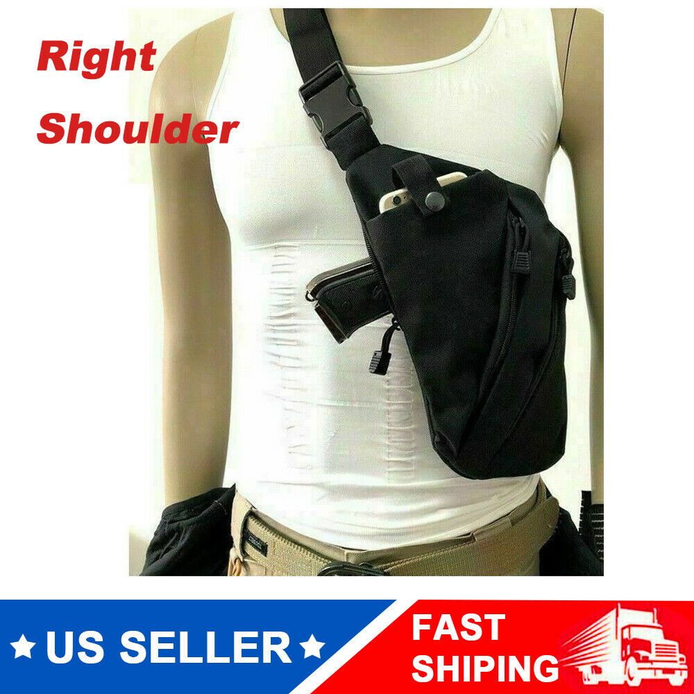 Multi-function Concealed Tactical Storage Gun Holster Right Anti-theft Chest Bag