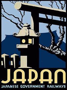 Japan-Japanese-Railways-Vintage-Asia-Asian-Travel-Advertisement-Poster-Print