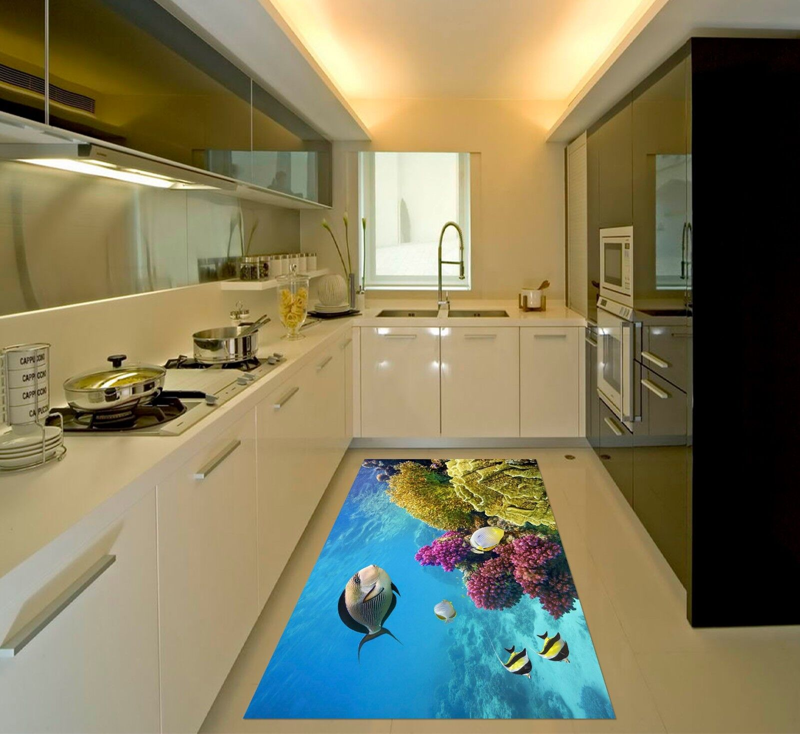 3D Coral Ocean392 Kitchen Mat Floor Murals Wall Print Wall Deco AJ WALLPAPER UK