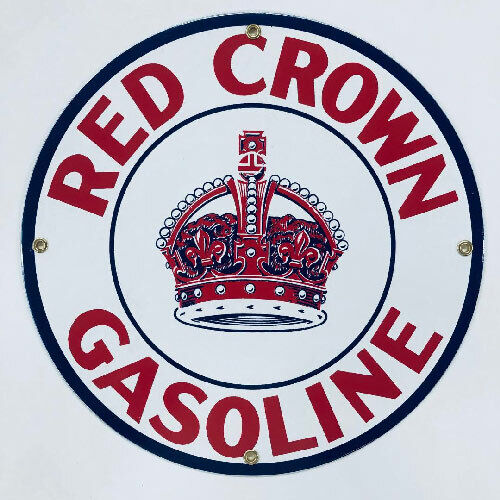 Red Crown Porcelain Advertising Sign