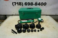 Greenlee Knock Out Hydraulic Punch And Die Set 7310 12 To 4 Nice Set Bg2