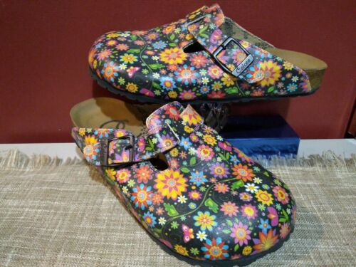 Calceo  hippy Flower Mule Clogs  38 7 7.5  Shoes
