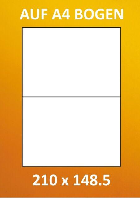 50 Etiketten 210x148 mm = 25 Blatt rot//orange selbstklebend PRIPA Aufkleber