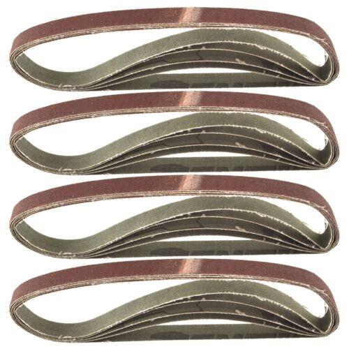 Belt Power Finger File Sander Abrasive Sanding Belts 457mm x 13mm 120 Grit 20 P