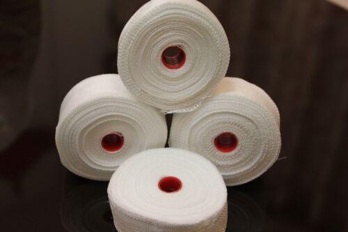 "4 Roll Fiberglass Cloth Tape 1/"" wide 16 Yards Reinforcement E-Glass Plain Weave"