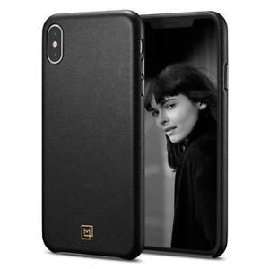 Spigen-iPhone-XS-Max-6-5-034-Case-La-Manon-calin-Chic-Black-Leather-Case