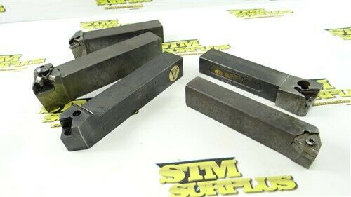 5 ASSORTED INDEXABLE TOOL HOLDERS 27/32