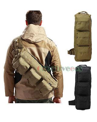 Men Nylon Tactical Hiking Messenger Back Pack Airborne Package Molle Chest Bag