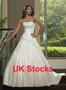 Image Is Loading Elegant Taffeta Wedding Dresses Bridal Evening Gowns Custom