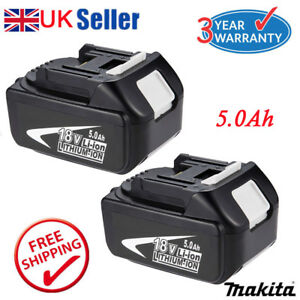 2x 5.0AH 18V Battery For Makita BL1850 BL1840 BL1860 LXT Lithium Ion Cordless UK 886909092892
