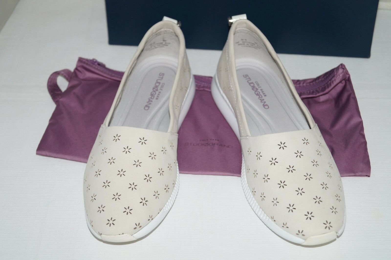 NEW IN BOX Authentique  198 Cole Haan studiogrand Perforé Nude Chaussures Taille 9 m