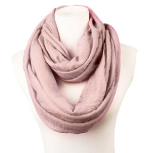 Solid-Women-Cotton-Infinity-Scarf-Loop-Cowl-Neck-Plain-Wrap-Shawl-Circle-Snood