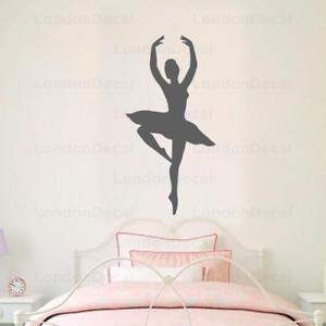 Ballerine Wall Decal Stickers Home Room Decor Art amovible de type 2 S