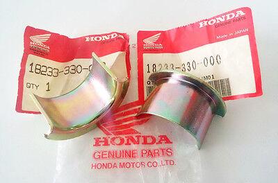 Pair New Honda CB125S XL200R CG125 CG110 Exhaust Muffler Collar Ex Pipe Joint