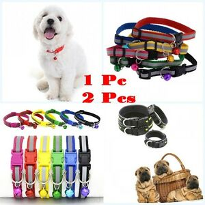Lovely-Pet-Dog-Puppy-Cat-Kitten-Soft-Glossy-Reflective-Collar-Safety-Buckle-Bell