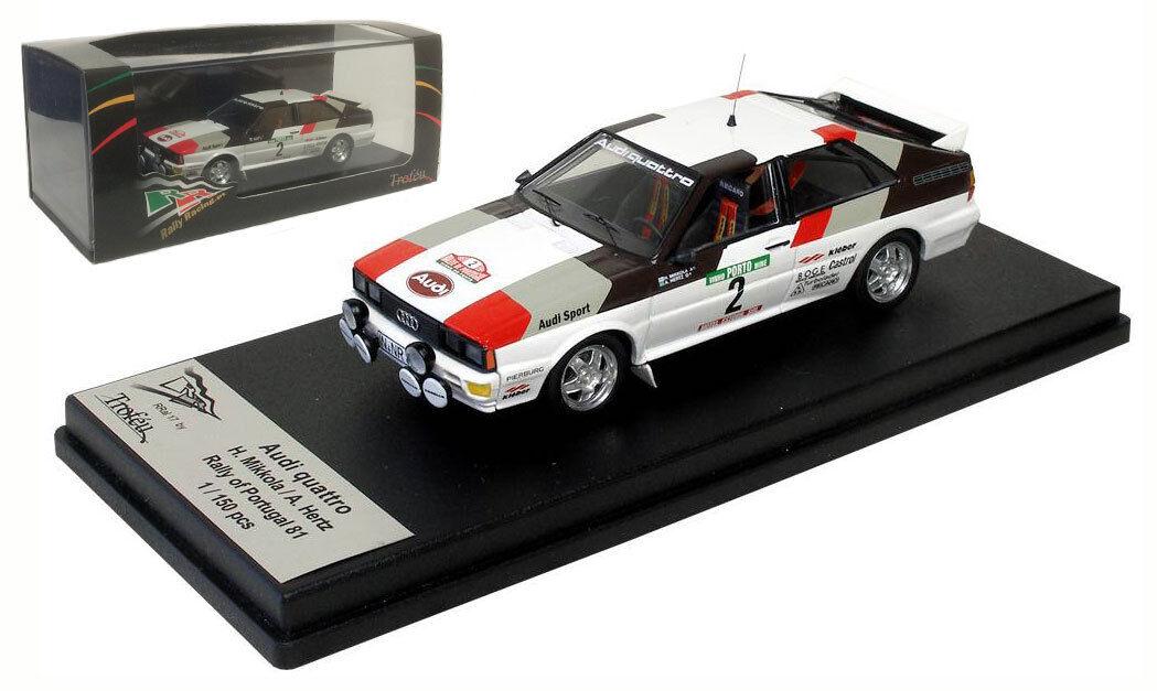 Trofeu rral 17  audi quattro  2 portugal rally 1981-h mikkola échelle 1 43  vente avec grande remise