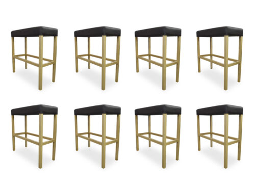 8x BAR Stool Pads Chairs Bank BAR Set Stool Design Counter New Chair Set
