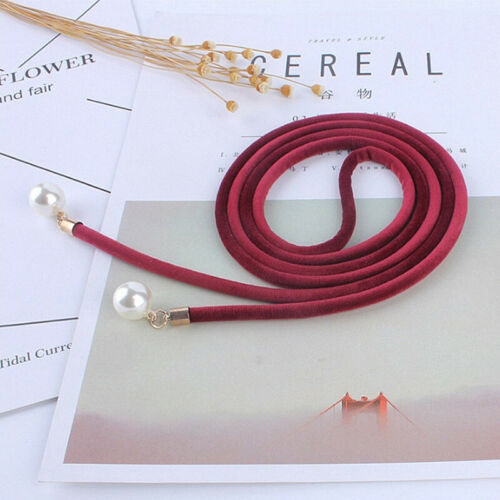 Women Tassel Knot Belt Vintage Pearl Waist Rope Fringed Waistband Girdle Dr LU