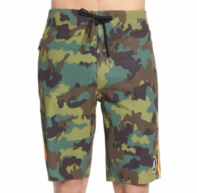 Hurley Mens Phantom JJF 2 Elite Boardshorts Camo Green