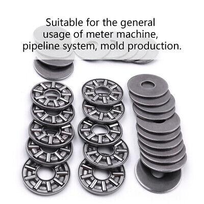 10pc 3 Part Needle Roller Thrust Bearing AXK0619 0819 0821 1024 1528 1730 Series