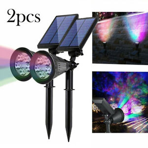 2pc Solar Ed Led Waterproof Color
