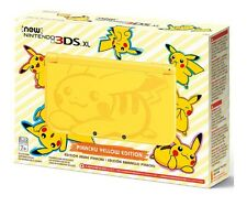 New Nintendo 3ds XL System Yellow Pikachu Edition Handheld Console US Version