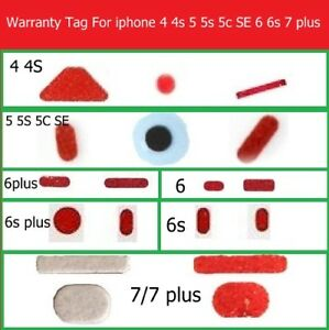 new style 68855 c8b0c Details about Liquid Water Damage Seal Warranty Indicator Sensors Stickers  For iPhone 6S 7Plus
