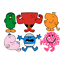 MR MEN STICKER WALL DECAL DECOR  STRONG BUMP LAZY MESSY lot MM