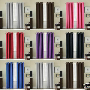 66-034-x-54-034-Eyelet-Luxury-Fully-Lined-Thermal-Blackout-Lined-Ring-Curtains-Thick