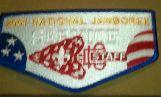 2001 National Boy Scout Jamboree OA SERVICE CORPS STAFF Flap