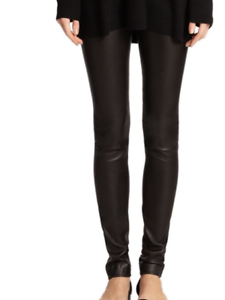 Women 100% Genuine Lambskin Stretchable Leather pant Lagging Style
