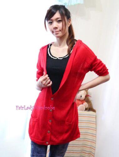 Charcoal Japan Oversized Deep V neck Pocket Hooded Long Knit Cardigan