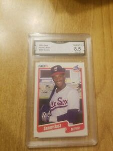 1990 Fleer Sammy Sosa Rookie RC #548- Cubs White Sox - Nm- Mint+ 8.5 GMA