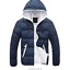 Casual-Men-Winter-Solid-Hooded-Thick-Padded-Jacket-Zipper-Outwear-Coat-Warm-Lot thumbnail 14