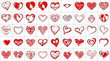 45pcs Heart Wall Panel Art Laser Plotter Cut Cnc Vector Dxf Cdr Ai Jpg Svg