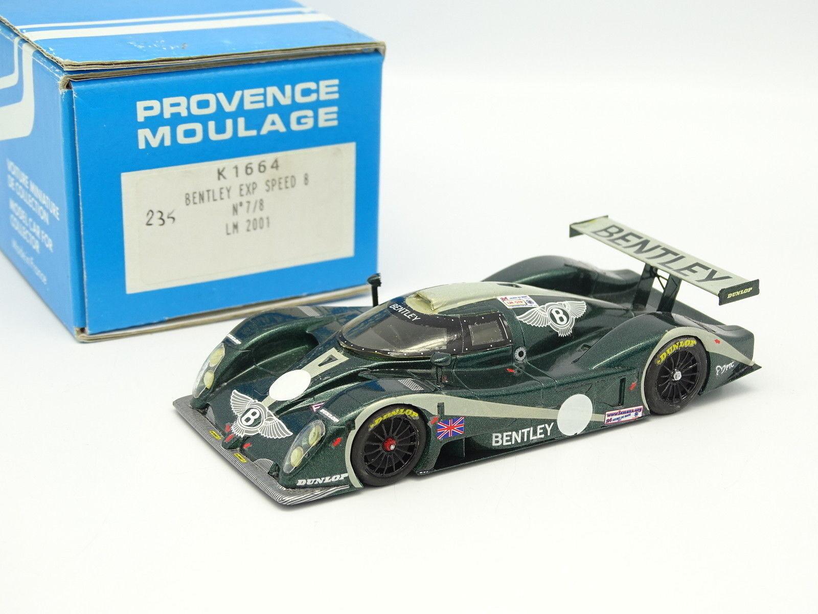Provence Moulage Kit Monté 1 43 - Bentley EXP Speed 8 Le Mans 2001 N°7 8