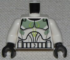 LEGO NEW STAR WARS CLONE TROOPER MINIFIG TORSO WITH GREEN MARKINGS