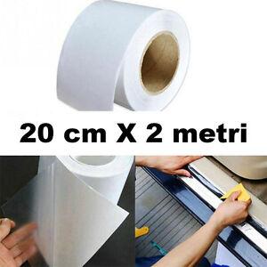 Rotolo pellicola protettiva trasparente 20cmX2m porte sportelli auto urti graffi