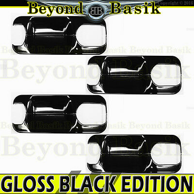 2017-2019 FORD F250 F350 4DR Crew Cab GLOSS BLACK Door Handle BOWL Covers
