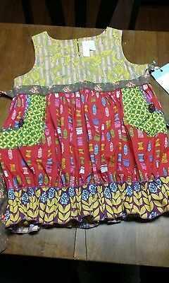 Girls size 14 Matilda Jane Jester red Shast Bubble top NWT/Pockets